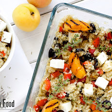 Quinoa Salad With Grilled Apricots And Feta