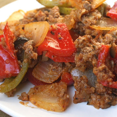 Spicy Italian Bell Pepper and Onion Skillet