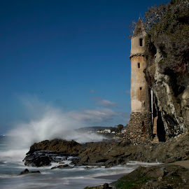 Splash the Tower by Michael Otter - Landscapes Beaches