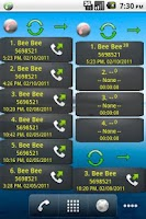Screenshot of Home Screen Call Logs Donation