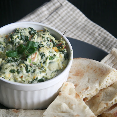 Hot Spinach Artichoke and Bacon Dip