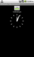 Screenshot of Automatic Time Announcer