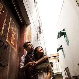 Love over the old building by Koay Kean - People Couples ( love, prewedding, wedding, casual, street )