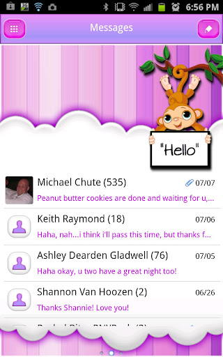 GO SMS Pro Theme Pink Nice - Android Apps on Google Play