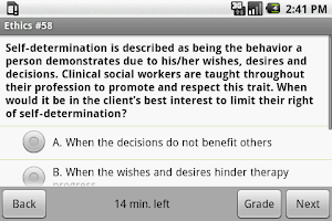 Screenshot of Social Work Clinical Exam Prep