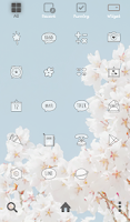 Screenshot of cherry blossom dodol theme