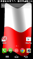 Screenshot of Poland Flag Live Wallpaper