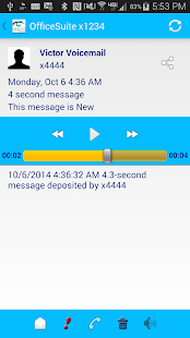 OfficeSuite Voicemail - screenshot