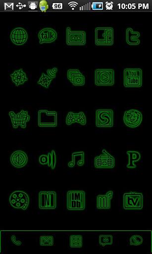 GloWorks Green ADW Theme