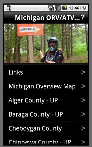 Michigan ORV ATV Trails