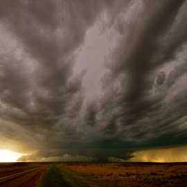 Summer Storm, Wyoming by Kathleen Koehlmoos - Landscapes Weather ( thunderstorm, midwest plains, wyoming storm, thunderhead, plains, huge storm, prairie storm, thunderclouds )