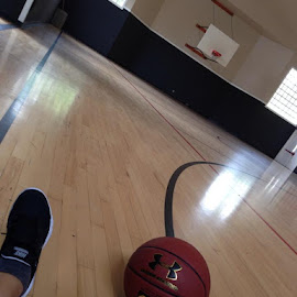 Felt great to be back in the gym playing ball. by Amanda McCool - Sports & Fitness Basketball