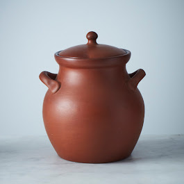 Egyptian Terra Cotta Clay Bean Pot - 2 ½ Qt.