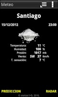 Screenshot of Meteo Widget