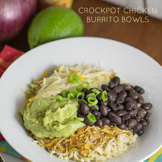 Crockpot Chicken Burrito Bowls
