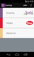 Screenshot of Scentsy