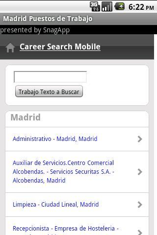Puestos de trabajo en Madrid