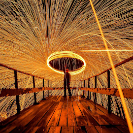 Steel wool by Lutfi Rachman - Abstract Light Painting