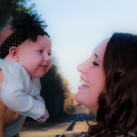 Mommy and Baby by Carol Plummer - People Family ( mommy, family, girt, baby, people,  )