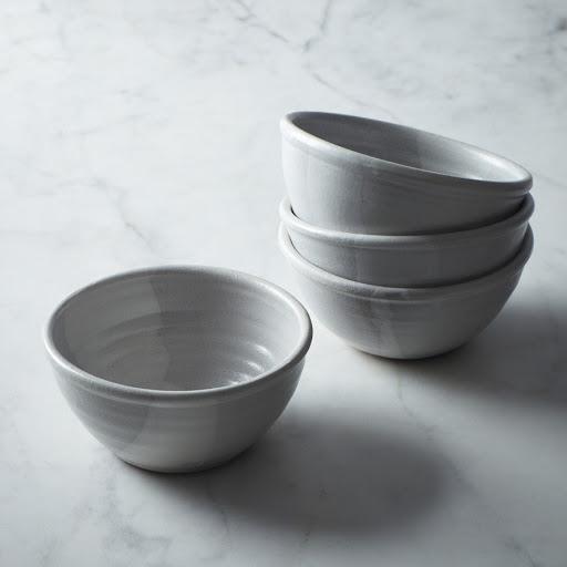 White Stoneware Bowl