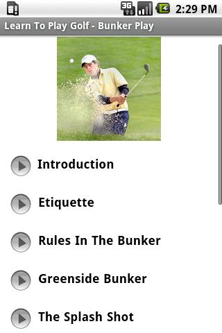 Learn To Play Golf - Bunkers