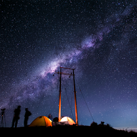 Milkyway Bromo by Doeh Namaku - Landscapes Starscapes