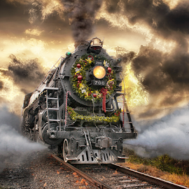 Venting Steam by Nickel Plate Photographics - Transportation Trains