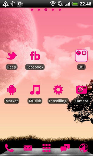 Hot Pink GO Launcher EX Theme