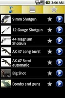 Screenshot of Cool Gun Ringtones