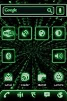 Screenshot of ADW Theme Green Glow Code Pro