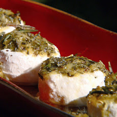 Lemon Rosemary Marinated Goat Cheese