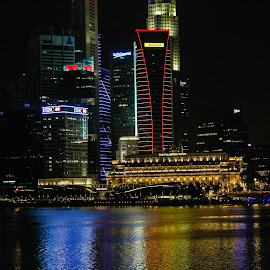 Marina Bay by night by Nizom Ali - City,  Street & Park  City Parks