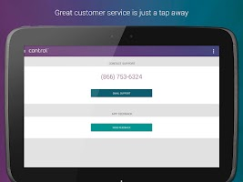 Screenshot of My Control Card Mobile Banking