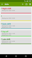 Screenshot of FlexR (Shift planner)