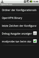 Screenshot of OpenVPN GUI (Root)