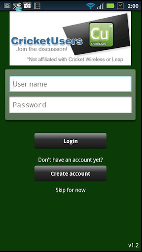 cricket-users-forum-app for android screenshot