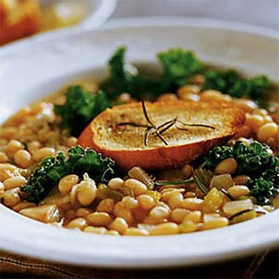 Navy Bean Soup with Rosemary and Kale