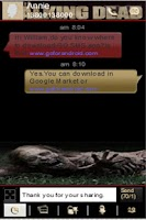 Screenshot of The Walking Dead GoSMS Theme