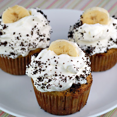 Banana Cream Pie Cupcakes