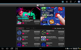 Screenshot of Reactable mobile