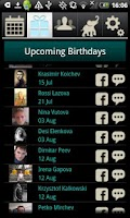 Screenshot of Birthday Calendar by Davia