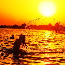 by Maja  Marjanovic - People Street & Candids ( sunset, candids, street, summer, sea, beach, people, sun )