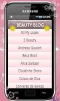 Screenshot of Beauty Blog