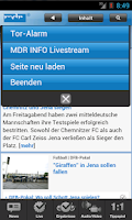 Screenshot of MDR Sport