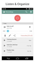 Screenshot of Rev Audio & Voice Recorder