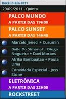 Screenshot of Rock in Rio 2011 - Programação