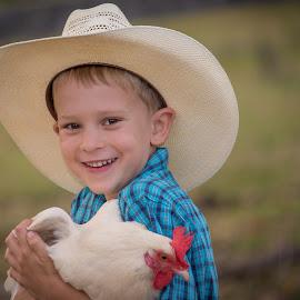 Young Cowboy by Esther Visser - Babies & Children Child Portraits