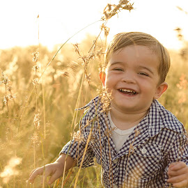 Joy in fields of gold by Suné Pienaar - Babies & Children Child Portraits