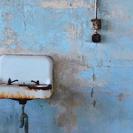 Prison Sink by Tina Cantarinha - Travel Locations Landmarks ( alcatraz )