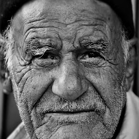 by Mahmoud Reza Moeinpour - People Portraits of Men ( face, black and white, professional people, portrait, man )
